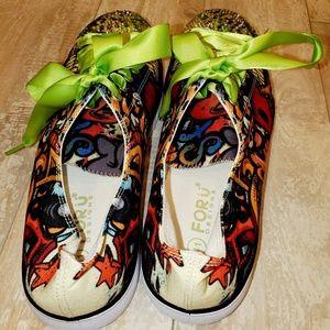 Shoes - Graffiti Bling Tennis sz 10